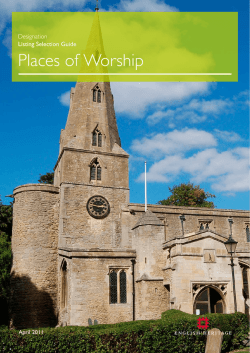 Designation listing selection guide: places of worship (2011)