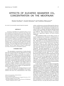 effects of elevated seawater co2 concentration on the meiofauna