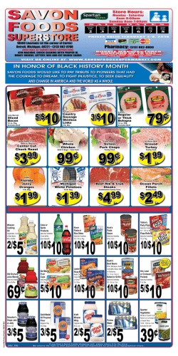 Weekly Ad - Savon Foods