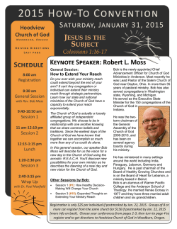 2015 How-To Convention - Association of the Churches of God