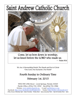 One Lord, One Eucharist, One Parish?