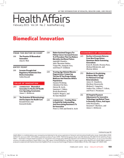 TOC (PDF) - Health Affairs