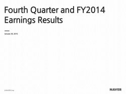 Fourth Quarter and FY2014 Earnings Results