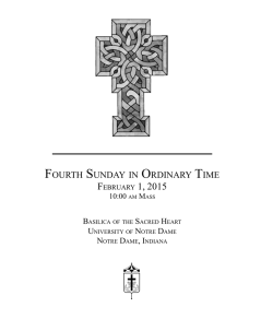 fourth sunday in ordinary time - Campus Ministry