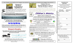 Bulletin - Pleasant View Missionary Church