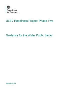ULEV readiness project phase 2