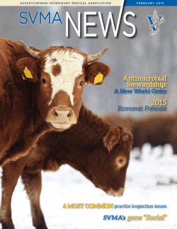 Newsletter - Saskatchewan Veterinary Medical Association