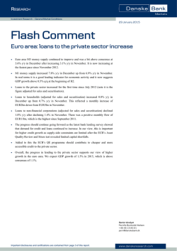 Flash Comment - Euro area: loans to the private