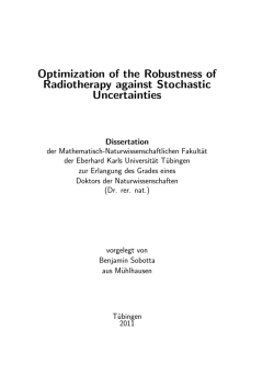 Optimization of the Robustness of Radiotherapy against Stochastic