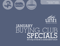 Wholesale Buying Club January 2015 Specials
