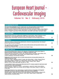 European Heart Journal - Cardiovascular Imaging European Heart