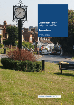 Download Appendices here - Chalfont St Peter Neighbourhood Plan