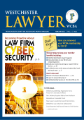 LAW FIRM SECURITY - Westchester County Bar Association