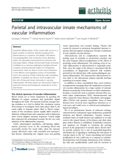 Parietal and intravascular innate mechanisms of vascular inflammation