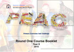 Round 1 Course Booklet