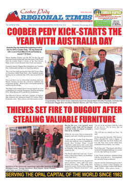 Coober Pedy Regional Times 29 January 2015 (PDF)