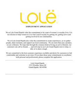 Lole Gazelle Employment Application 2
