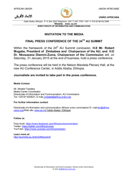 INVITATION TO THE MEDIA FINAL PRESS