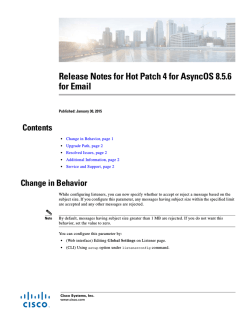 Cisco AsyncOS 8.5.6 for Email Hot Patch 4 Release Notes