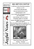 February Joyful Notes - Martin United Methodist Church
