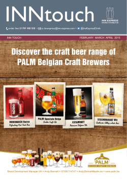 Discover the craft beer range of PALM Belgian Craft