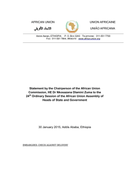 Statement - African Union Commission Chairperson