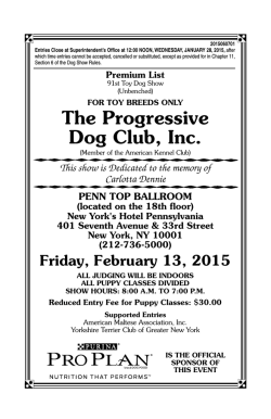 Progressive - The Yorkshire Terrier Club of America