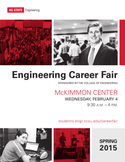 Spring 2015 Corporate Booklet - Engineering Student Organizations