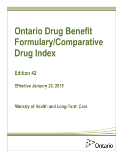 Ontario Drug Benefit Formulary Edition 42