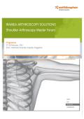 IRAMEA ARTHROSCOPY SOLUTIONS Shoulder Arthroscopy Master Forum
