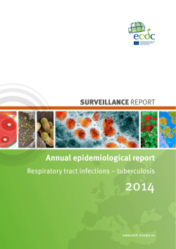 Annual epidemiological report - ECDC