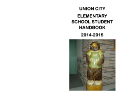 Elementary School Handbook - Union City Area School District