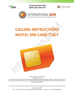 calling instructions noitel sim card italy - AMS