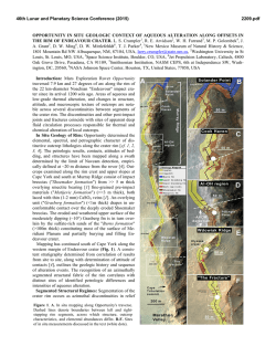 Opportunity In Situ Geologic Context of Aqueous - USRA