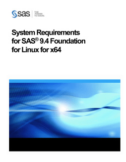 System Requirements for SAS® 9.4 Foundation for Linux® for x64