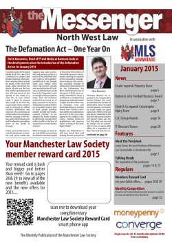 January 2015 - Manchester Law Society