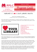our February Newsletter - Pinellas Public Library Cooperative
