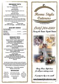 DeSSert Menu - Home Style Caterers