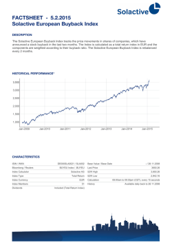 FACTSHEET - Solactive European Buyback Index 30.1.2015