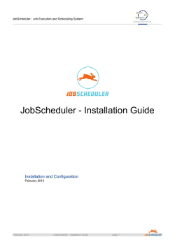 JobScheduler - Installation Guide