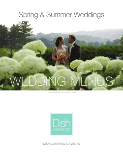 WEDDING MENUS - Dish Catering