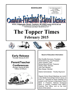 District Newsletter - Cambria