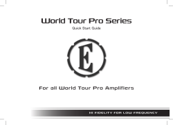 World Tour Pro Series - Eden Bass Amplification