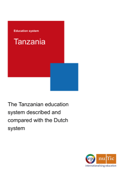 Education system Tanzania