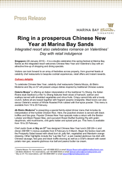 Ring in a prosperous Chinese New Year at Marina Bay Sands