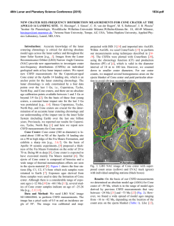 New Crater Size-Frequency Distribution Measurements for Cone