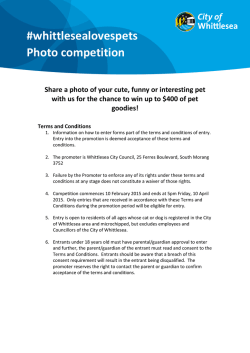 Whittlesea Loves Pets photo competition