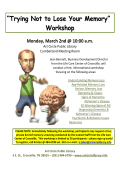 """Trying Not to Lose Your Memory"" Workshop"
