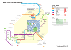 Buses and trams from Woodside