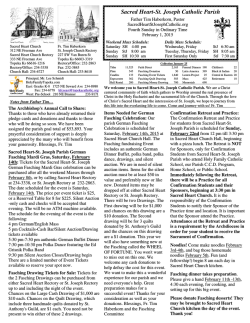 Bulletin - Sacred Heart - St. Joseph Catholic Parish